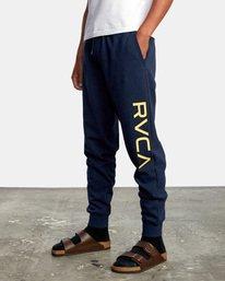 4 Big RVCA Sweatpants Blue AVYFB00119 RVCA