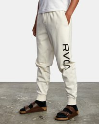 4 Big RVCA Sweatpants Silver AVYFB00119 RVCA