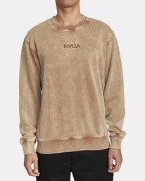 0 MINERAL CREW SWEATSHIRT Brown AVYFT00113 RVCA