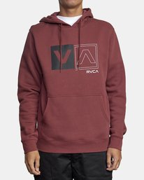 1 DIVIDED HOODIE Red AVYFT00130 RVCA