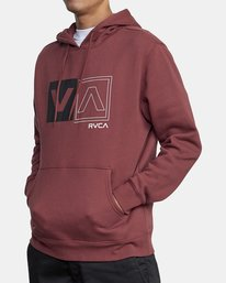 6 DIVIDED HOODIE Red AVYFT00130 RVCA