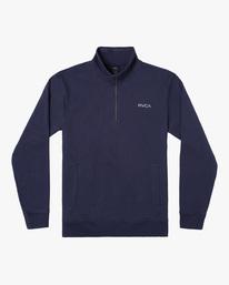 0 Keats Half-Zip Mock Neck Pullover Blue AVYFT00157 RVCA