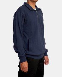 5 Keats Half-Zip Mock Neck Pullover Blue AVYFT00157 RVCA