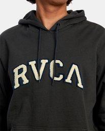 3 Concord Applique Pullover Hoodie Black AVYFT00159 RVCA