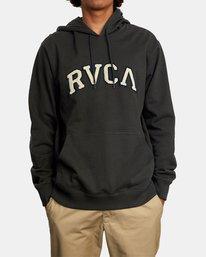 1 Concord Applique Pullover Hoodie Black AVYFT00159 RVCA
