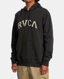4 Concord Applique Pullover Hoodie Black AVYFT00159 RVCA