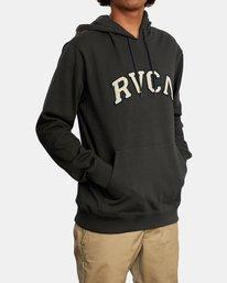 5 Concord Applique Pullover Hoodie Black AVYFT00159 RVCA