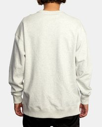 2 Hastings Emblem Crewneck Sweatshirt White AVYFT00160 RVCA