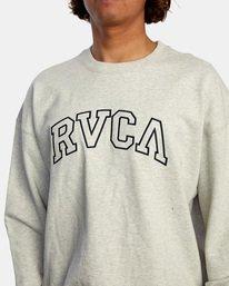 3 Hastings Emblem Crewneck Sweatshirt White AVYFT00160 RVCA