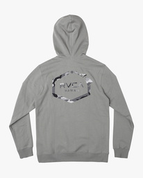 1 ISLAND HEX PULLOVER HOODIE Green AVYFT00175 RVCA