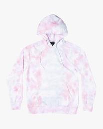 0 Tonally Tie-Dye III Pullover Hoodie White AVYFT00182 RVCA
