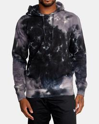 1 Tonally Tie-Dye III Pullover Hoodie Black AVYFT00182 RVCA