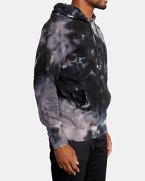 5 Tonally Tie-Dye III Pullover Hoodie Black AVYFT00182 RVCA