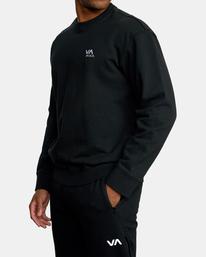 3 VA Essential Sweatshirt Black AVYFT00192 RVCA