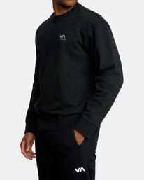 5 VA Essential Sweatshirt Black AVYFT00192 RVCA