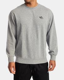 0 VA Essential Sweatshirt Grey AVYFT00192 RVCA