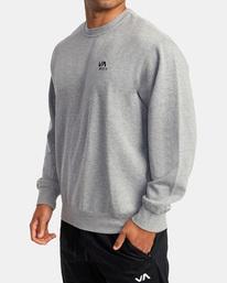 3 VA Essential Sweatshirt Grey AVYFT00192 RVCA