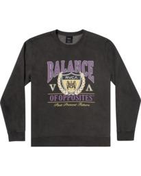 0 Cambridge Crewneck Sweatshirt Black AVYFT00194 RVCA