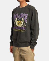 4 Cambridge Crewneck Sweatshirt Black AVYFT00194 RVCA