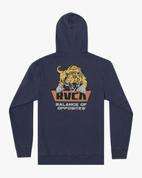 1 Clawed Hoodie Blue AVYFT00198 RVCA