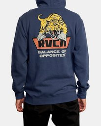 3 Clawed Hoodie Blue AVYFT00198 RVCA