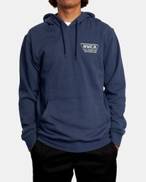2 Clawed Hoodie Blue AVYFT00198 RVCA