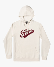 0 Pennant Pullover Hoodie Silver AVYFT00199 RVCA