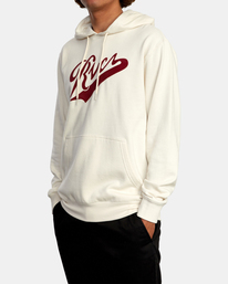 4 Pennant Pullover Hoodie Silver AVYFT00199 RVCA