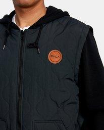 3 Grant Hooded Puffer Jacket Black AVYFT00205 RVCA