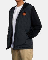 5 Grant Hooded Puffer Jacket Black AVYFT00205 RVCA