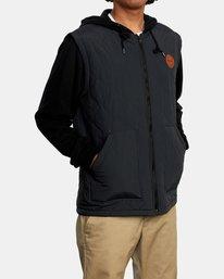 7 Grant Hooded Puffer Jacket Black AVYFT00205 RVCA