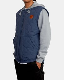 4 Grant Hooded Puffer Jacket Blue AVYFT00205 RVCA
