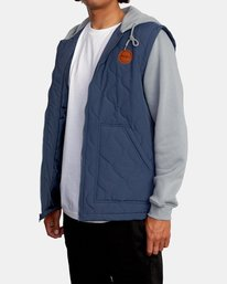 5 Grant Hooded Puffer Jacket Blue AVYFT00205 RVCA