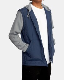 6 Grant Hooded Puffer Jacket Blue AVYFT00205 RVCA