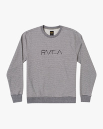 0 Porter Crewneck Sweatshirt Silver AVYFT00208 RVCA