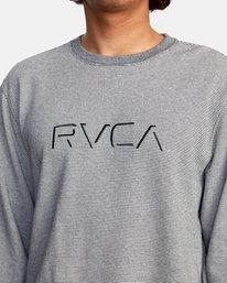 3 Porter Crewneck Sweatshirt Silver AVYFT00208 RVCA