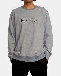 1 Porter Crewneck Sweatshirt Silver AVYFT00208 RVCA