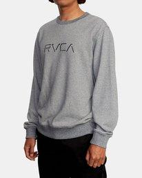 4 Porter Crewneck Sweatshirt Silver AVYFT00208 RVCA