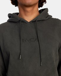 3 Tonally Pullover Hoodie Black AVYFT00210 RVCA