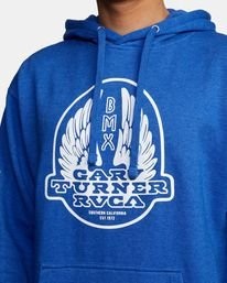 3 Gary Turner Hoodie Blue AVYFT00229 RVCA