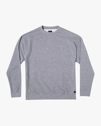 0 Day Shift Crewneck Sweatshirt Grey AVYFT00237 RVCA