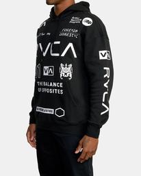 3 All Brand Sport Workout Hoodie Black AVYFT00251 RVCA