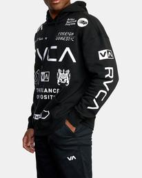 4 All Brand Sport Workout Hoodie Black AVYFT00251 RVCA
