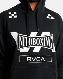 1 NITOBOXING CHECK HOODIE Black AVYFT00259 RVCA