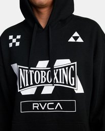0 NITOBOXING CHECK HOODIE Black AVYFT00259 RVCA