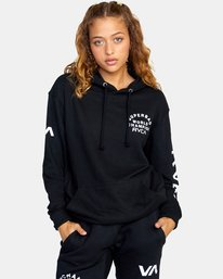 2 Seniesa Estrada | VA Sport x Seniesa Superbad Pullover Hoodie Black AVYFT00262 RVCA