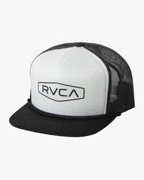 0 STAPLE FOAMY TRUCKER HAT Black AVYHA00153 RVCA