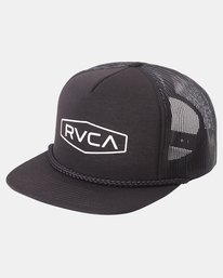 0 STAPLE FOAMY TRUCKER HAT Black AVYHA00153 RVCA