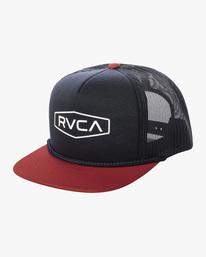 0 STAPLE FOAMY TRUCKER HAT Blue AVYHA00153 RVCA