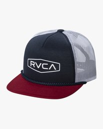 0 STAPLE FOAMY TRUCKER HAT Blue AVYHA00153 RVCA